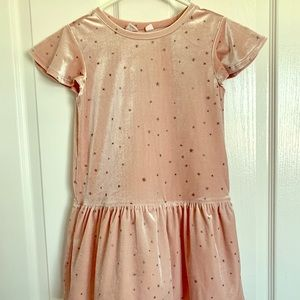Gap light pink velvet dress size Small